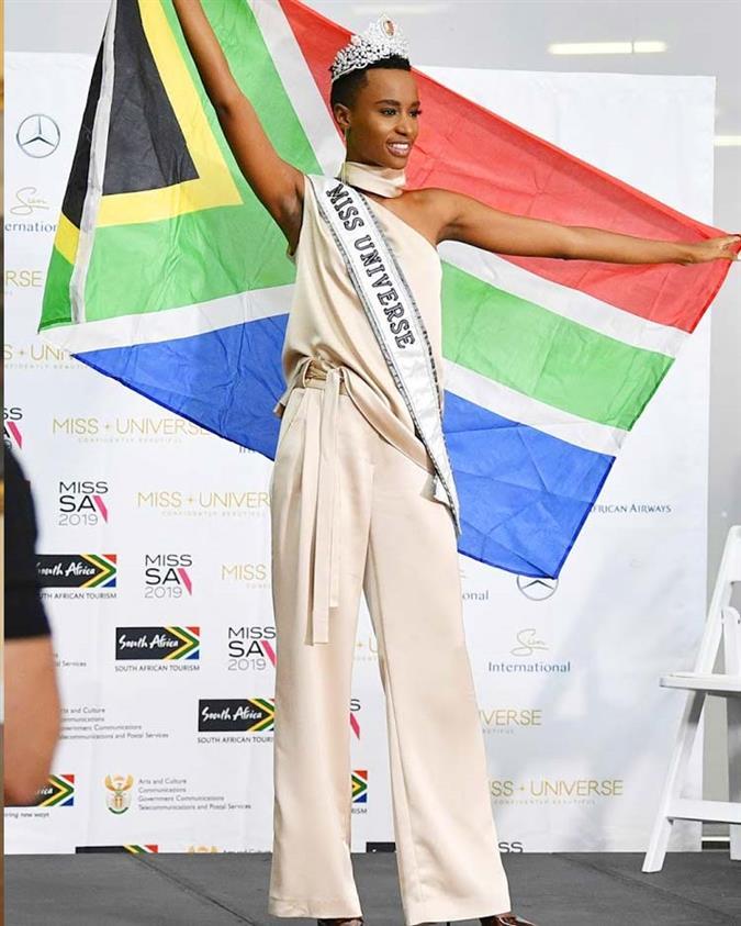 Best Looks from Miss Universe 2019 Zozibini Tunzi's homecoming