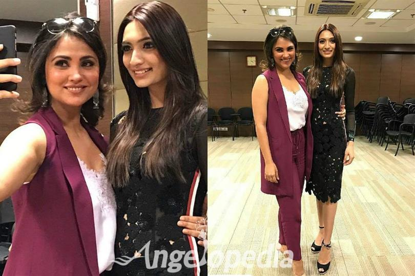 Lara Dutta shares her experience and tips with Roshmitha Harimurthy before Miss Universe 2016