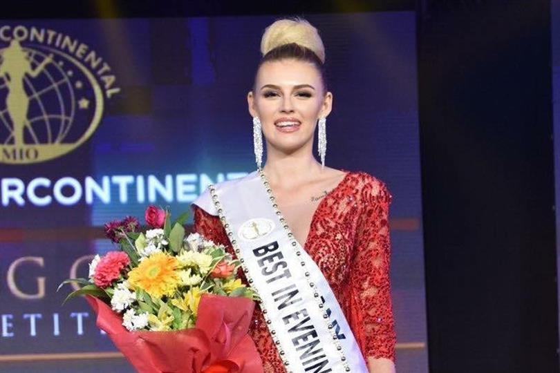 Olivia Moelle of Germany take home the title of Best in Evening Gown in Miss Intercontinental 2018