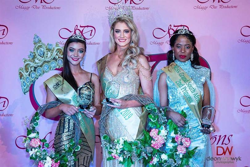 Belinde Bella Schreuder Jeané Van Dam Phomolo Tjie Miss Grand South Africa 2019 Winners