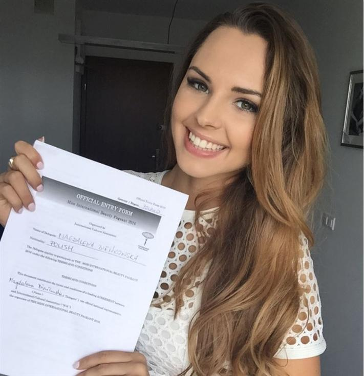 Magdalena Bienkowska to represent Poland at Miss International 2016