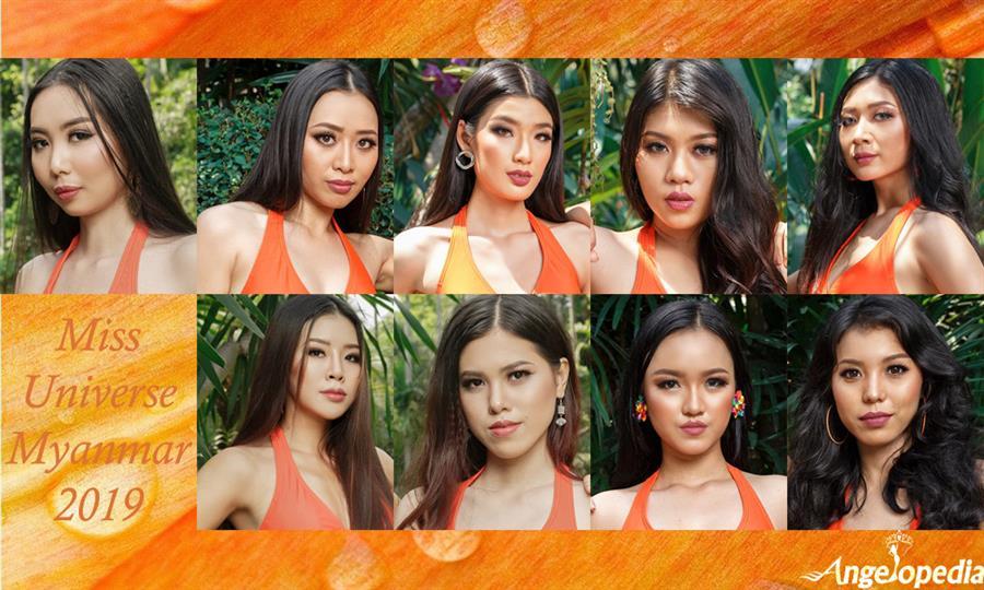 Miss Universe Myanmar 2019 Finalists
