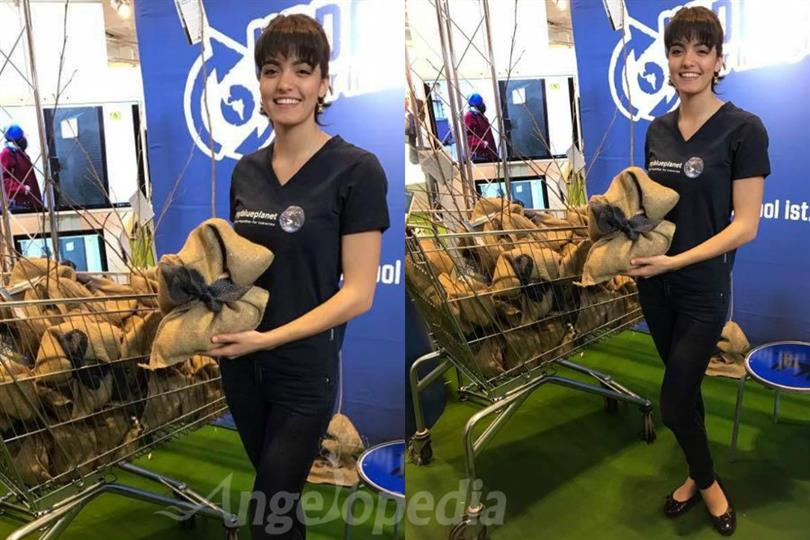 Sarah Laura Peyrel distributes 100 trees at the 10th Anniversary of My Blue Planet