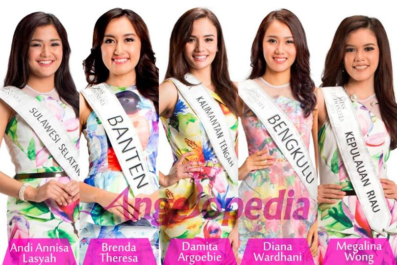 Miss Indonesia 2015 Top 10 Favourites by Angelopedia