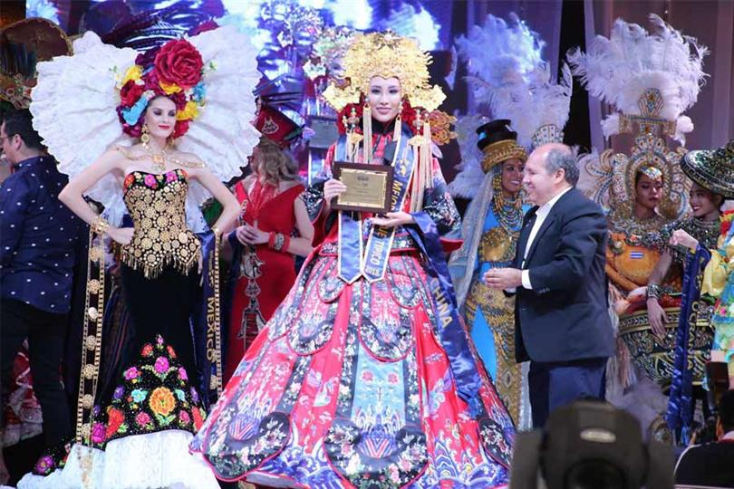 Miss United Continents China 2018 Wenjing Zhang grabs Best National Costume award