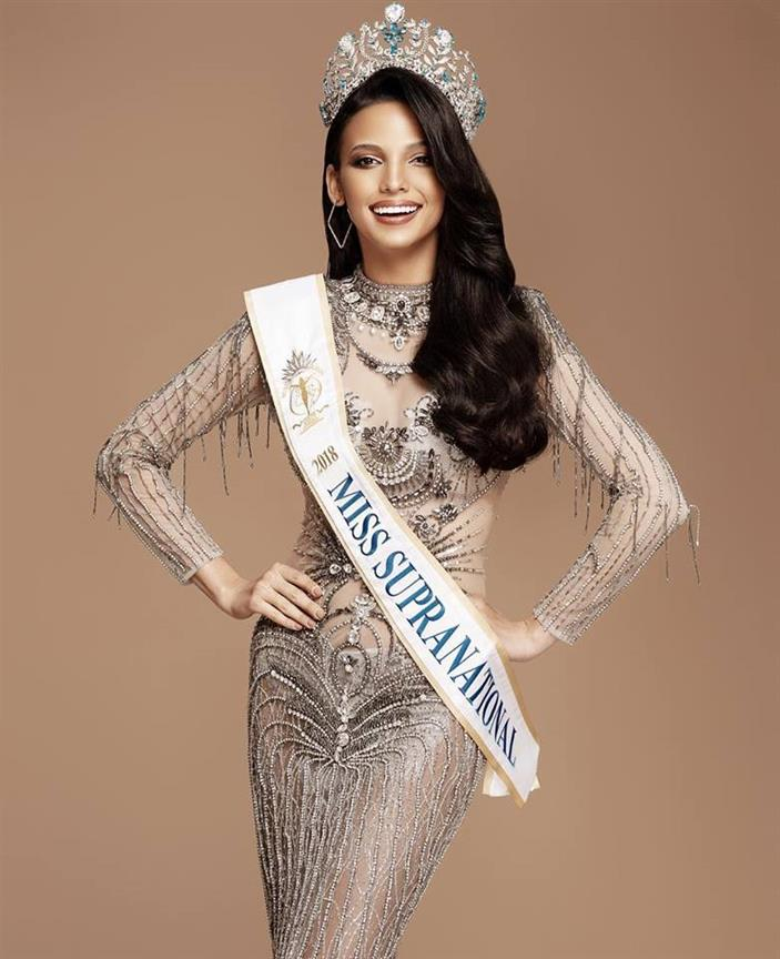 Miss Supranational 2018 Valeria Vasquez departs for her European Tour