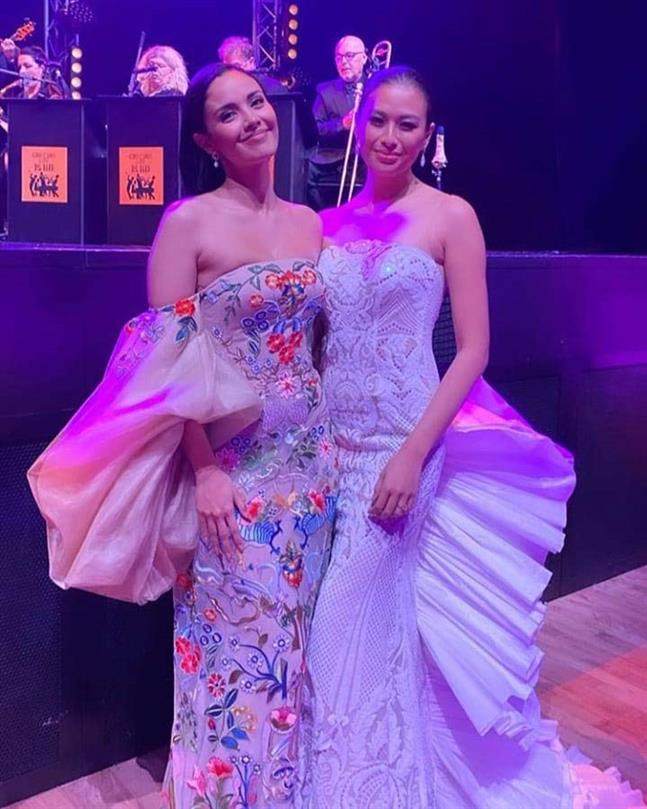 Former Miss World Megan Young arrives in London to co-host Miss World 2019
