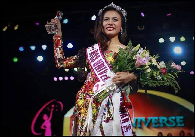 Sharr Htut Eaindra Miss Universe Myanmar 2014