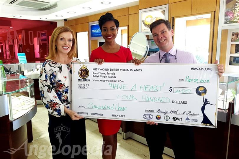 Miss World British Virgin Islands supports Have a Heart Foundation