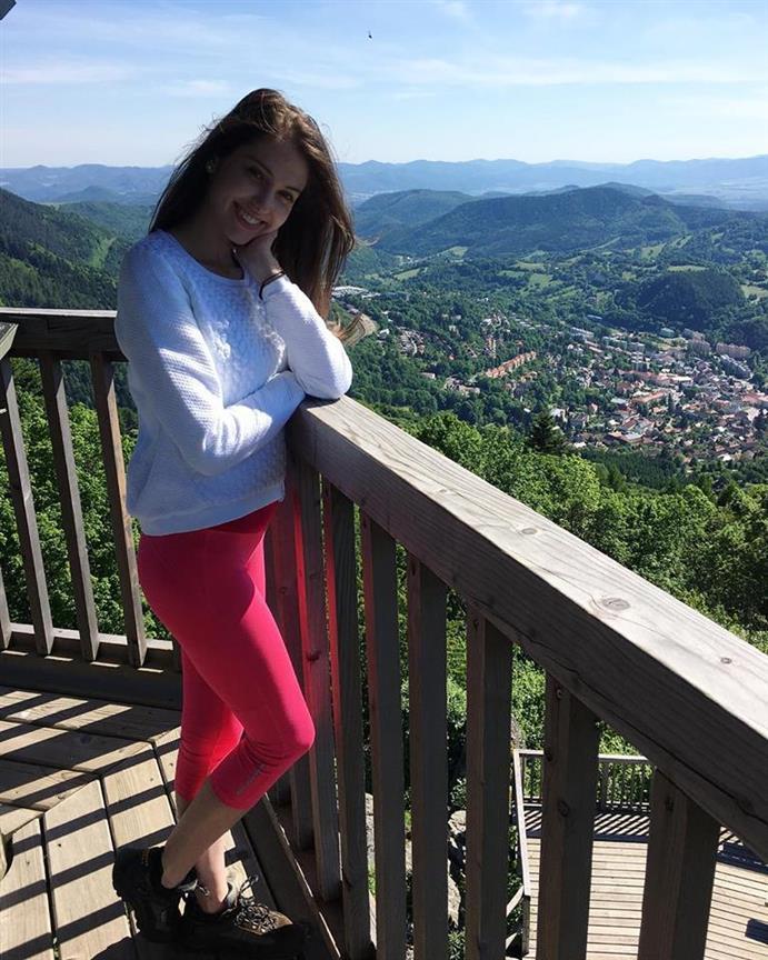 Miss Slovensko 2018 finalist Rebeka Barboráková's scenic view
