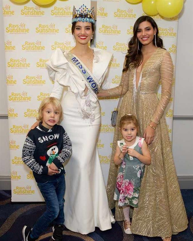 Miss World queens Vanessa Ponce de Leon and Stephanie Del Valle chief of guests at Rays of Sunshine Christmas party