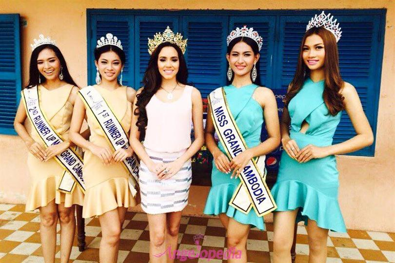 Miss Grand Cambodia 2015 winners with Miss Grand Cambodia 2014 and Miss Grand International 2014