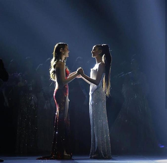Here's what Catriona Gray and Tamaryn Green told each other right before the winner announcement in the gala Miss Universe 2018