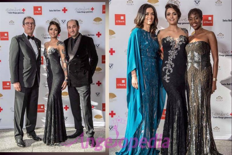 Miss Earth Switzerland 2017 Sarah Laura Peyrel supports Swiss Red Cross Charity Ball