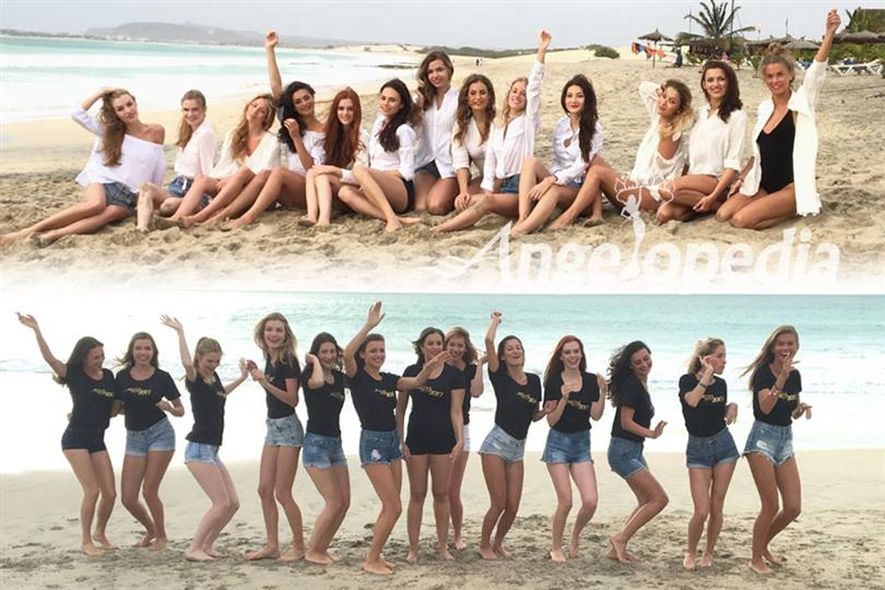 Miss Slovakia 2017 contestants at Cape Verde for the title of Miss Congeniality