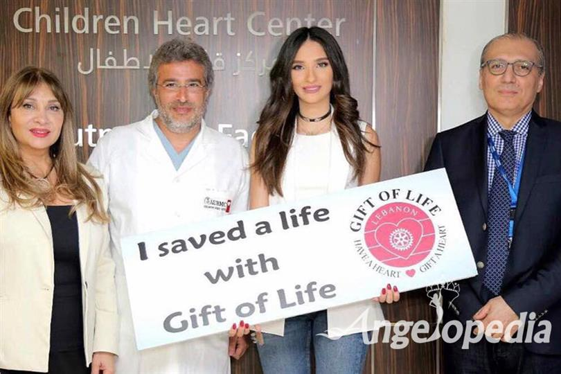 Miss World Lebanon 2016, Sandy Tabet Saves a Life with a Gift of Life Lebanon