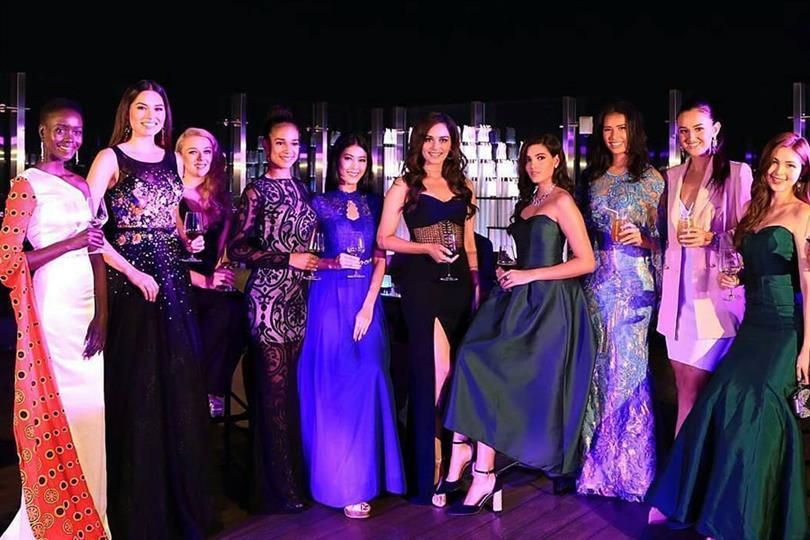 Manushi Chhillar & her court arrives in Indonesia for Miss Indonesia 2018