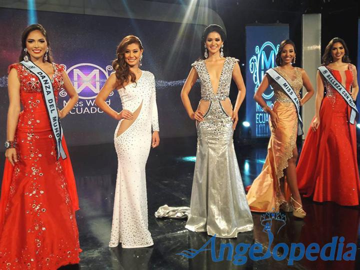 Top 5 Finalists Miss World Ecuador 2016