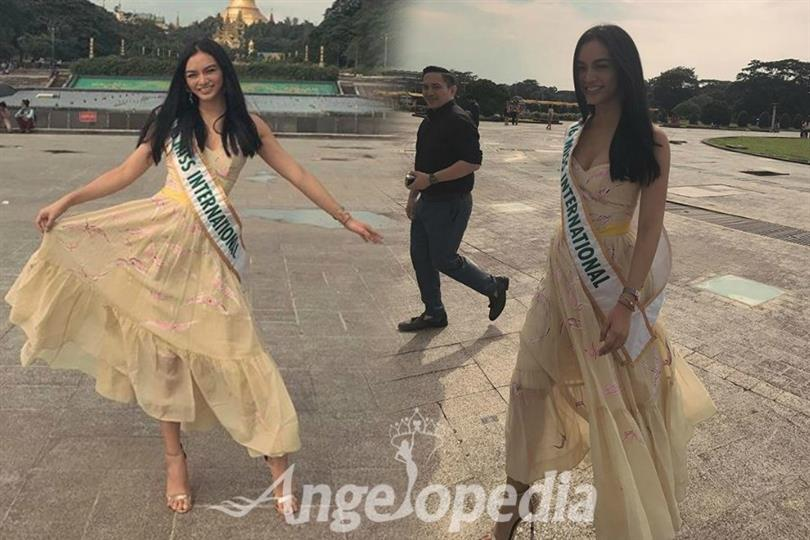 Kylie Verzosa meets Miss International Myanmar 2017 contestants
