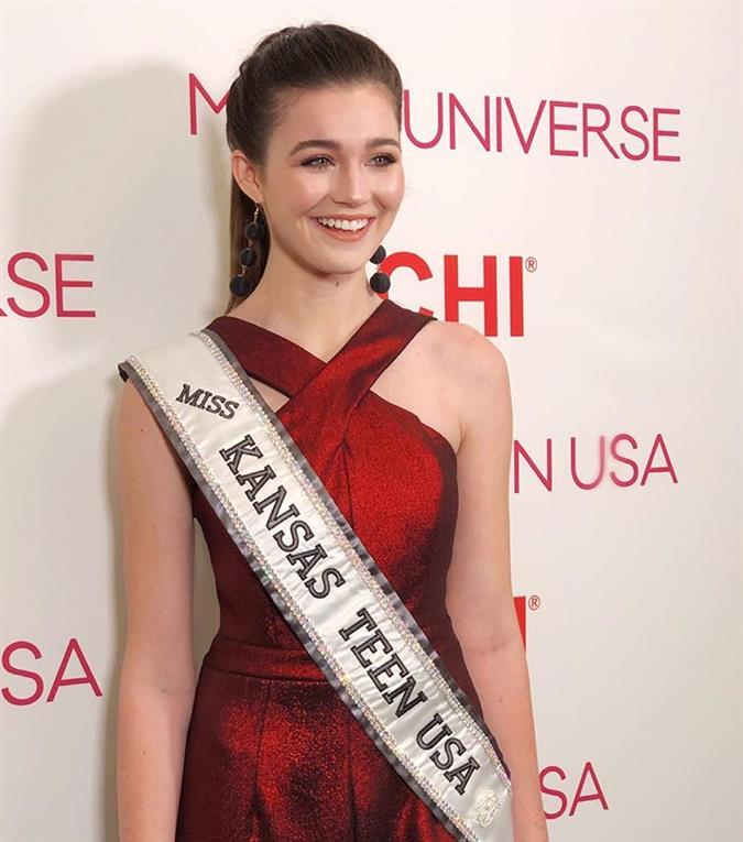 Hannah Marie DeBok Miss Kansas Teen USA 2019 competing for Miss Teen USA 2019