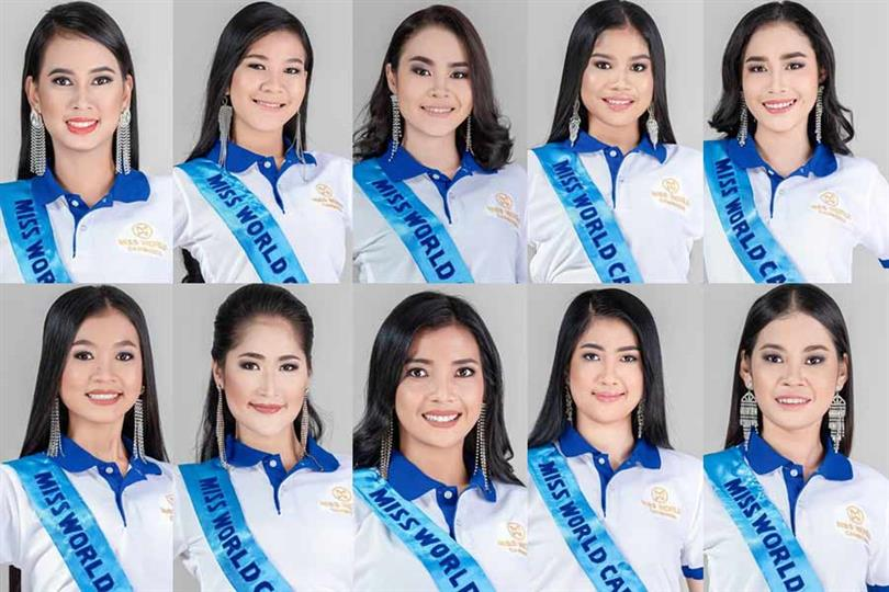 Miss World Cambodia 2019 Meet the Contestants