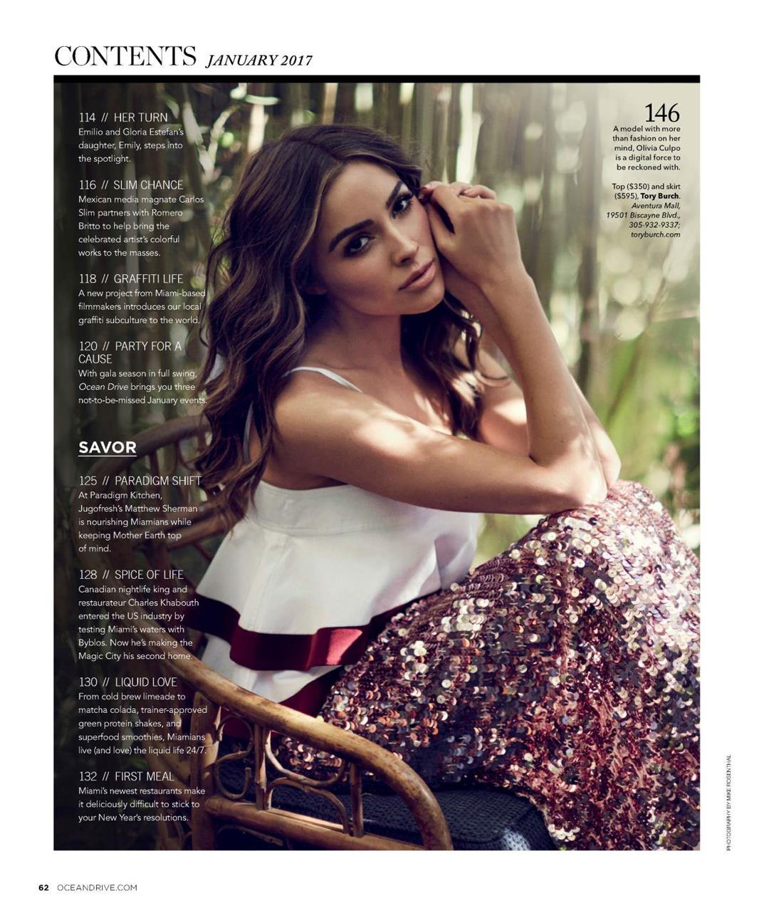 Olivia Culpo dons the Ocean Drive Magazine Cover like a Queen