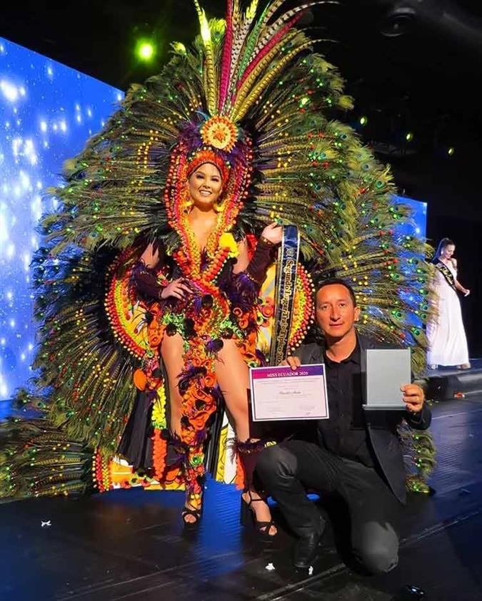 Daniela Mera of Muisine wins Best in National Costume for Miss Ecuador 2020
