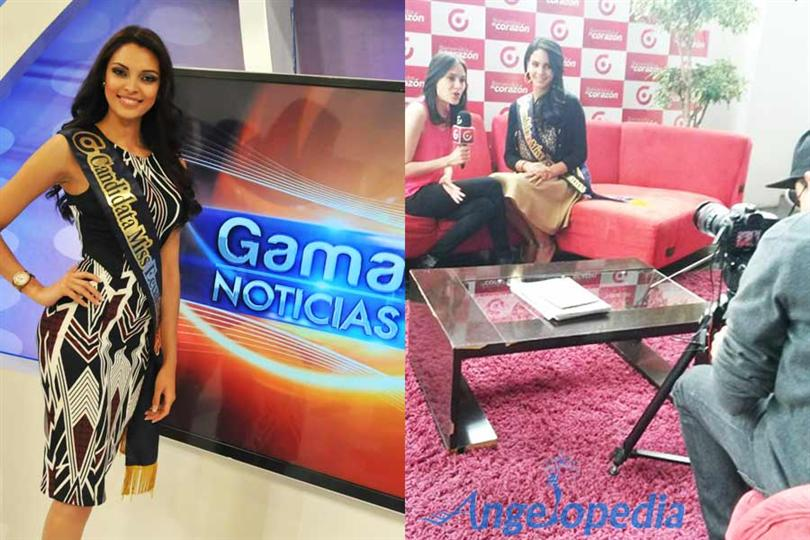 Miss Ecuador 2015 contestants at GamaTv