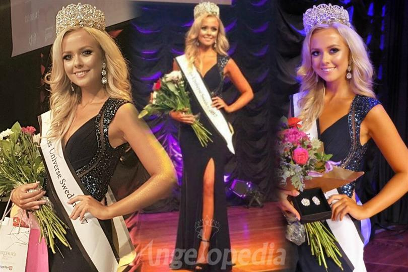 Frida Maria Fornander crowned as Miss Universe Sweden 2017