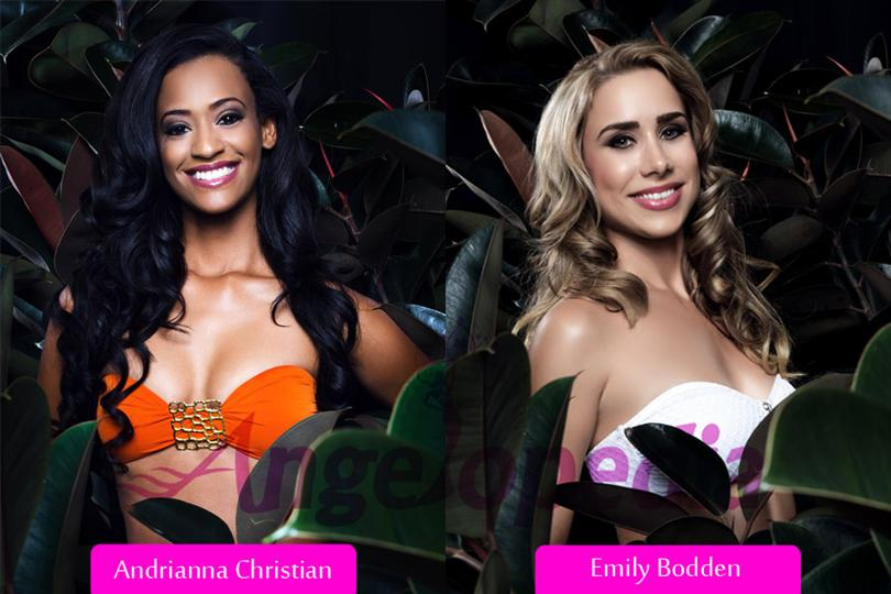 First runner up and second runner up for Miss Cayman Islands 2015