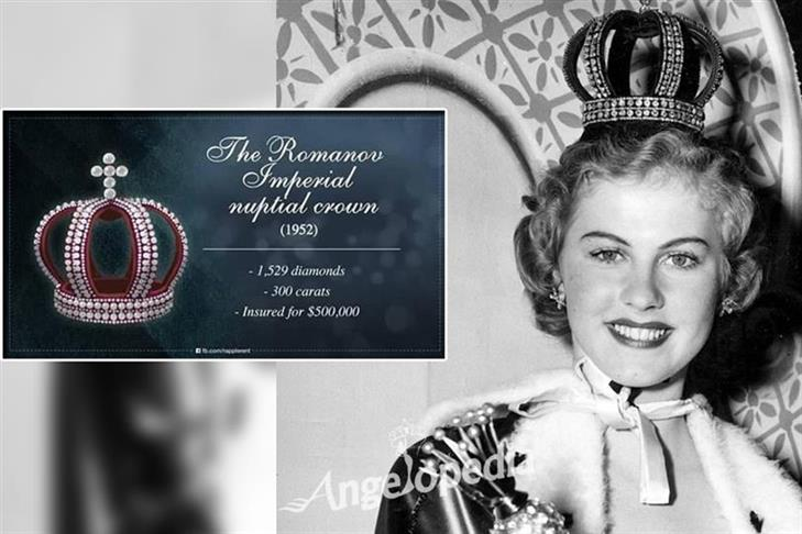 The Romanov Imperial nuptial crown (1952-1953)