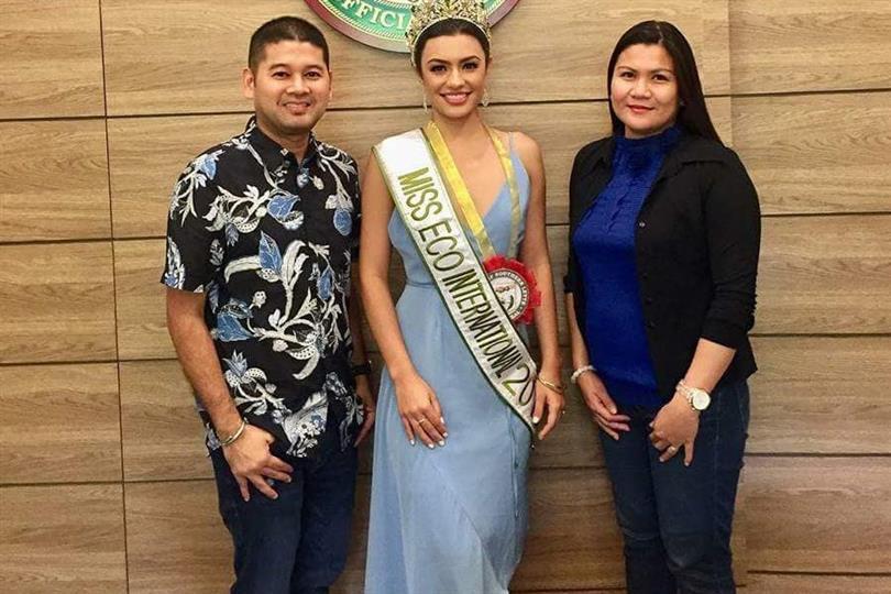 Miss Eco International 2018 Cynthia Thomalla's homecoming