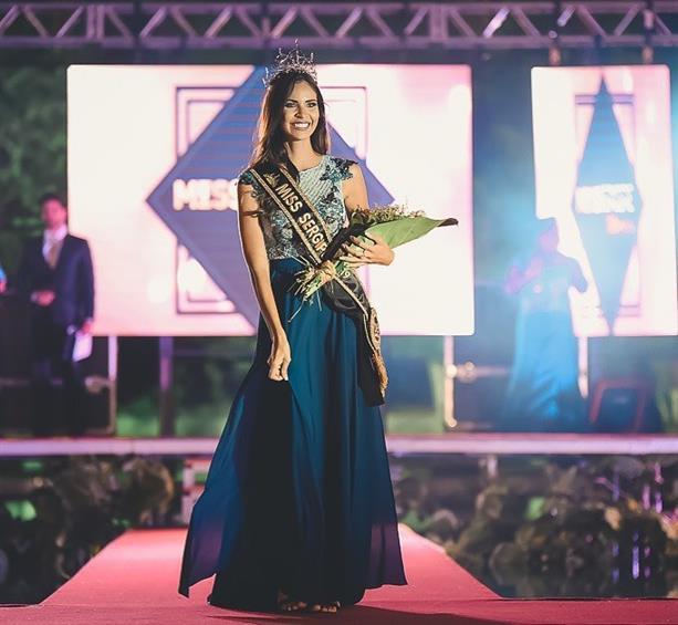 Meet Ingrid Vieira Moraes Miss Sergipe 2019 for Miss Universe Brazil 2019