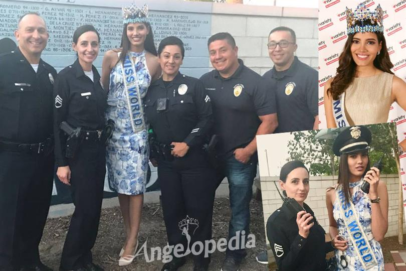 Miss World 2016 Stephanie Del Valle teams up with LAPD