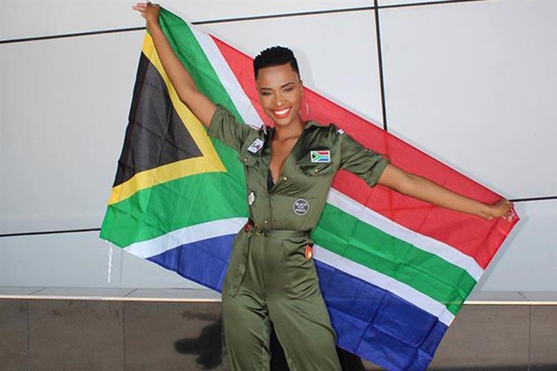 South Africa's Zozibini Tunzi departs for Atlanta, USA for Miss Universe 2019