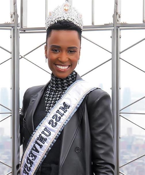Miss Universe 2019 Zozibini Tunzi officially begins her media week