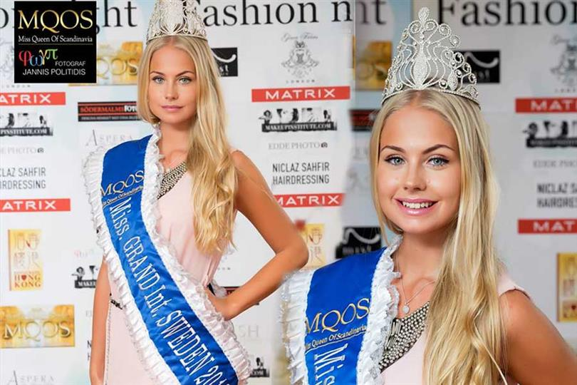 Hanna-Louise Haag Tuvér crowned Miss Grand Sweden 2018