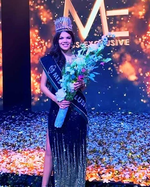 Filipina-Belgian beauty Kimbery Bosman crowned Miss Exclusive 2020
