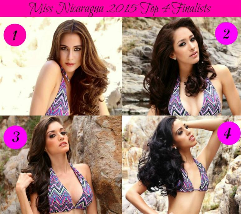 Miss Nicaragua 2015 Top 4 finalists
