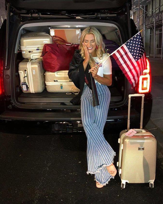 Sarah Rose Summers departs for Bangkok to begin her journey in Miss Universe 2018