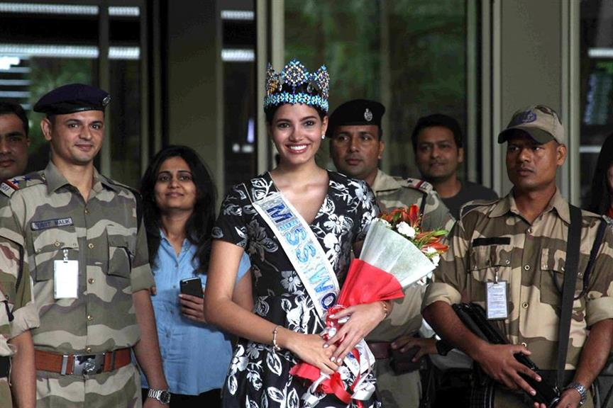 Miss World 2016 Stephanie Del Valle arrives in India