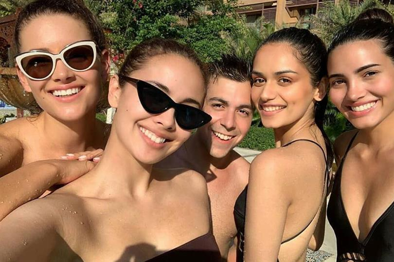 Former Miss World Queens enjoy their free time at Water Park ahead of Miss World 2018 finale