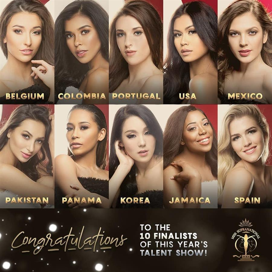 Miss Supranational 2018 Talent Competition Top 10 finalists revealed