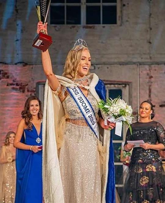 Anni Harjunpää crowned Miss Suomi 2019