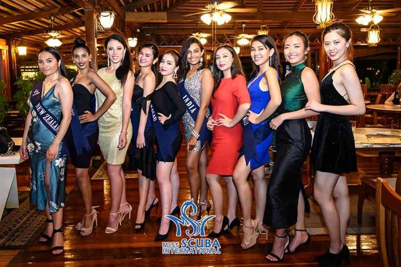 Asian beauties dazzle at the Welcome Dinner of Miss Scuba International 2019