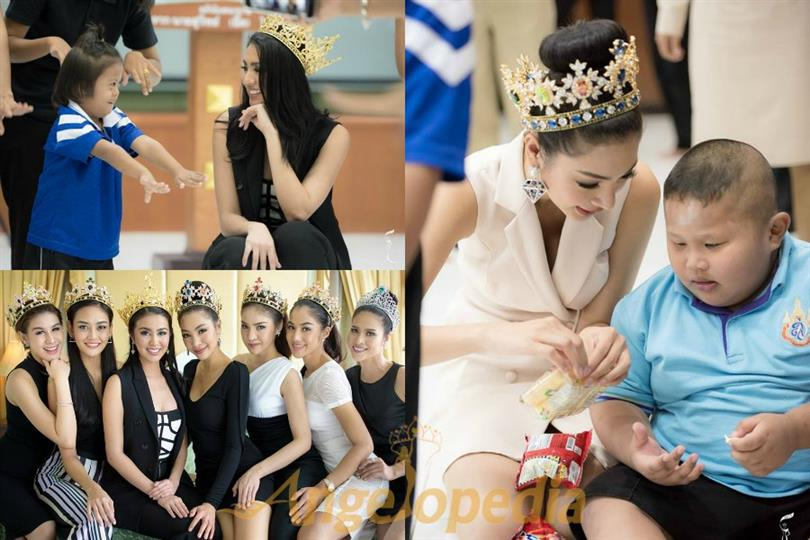 Ariska Putri Pertiwi with Miss Grand Thailand 2016 Team visited Regional Special Education Center