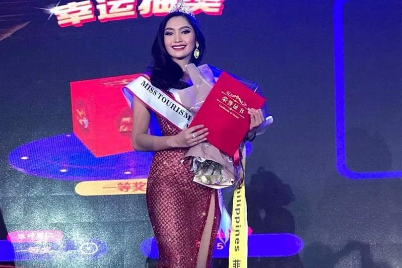 Francesca Taruc follows suit, wears a patriotic evening gown like Catriona Gray