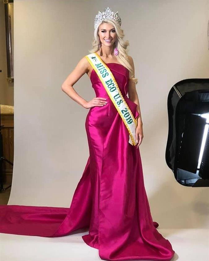 Jordan Elizabeth crowned Miss Eco USA 2019 for Miss Eco International 2019