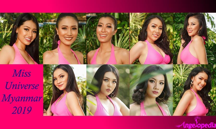 Miss Universe Myanmar 2019 Candidates Contestants Finalists Delegates