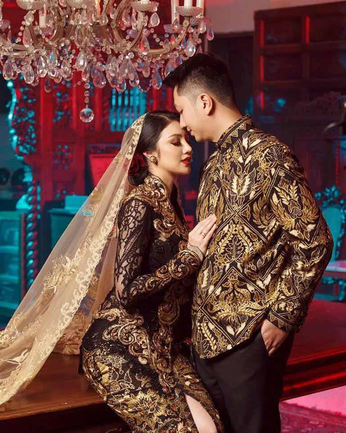 Miss Grand International 2016 Ariska Putri Pertiwi ties the knot with her prince charming